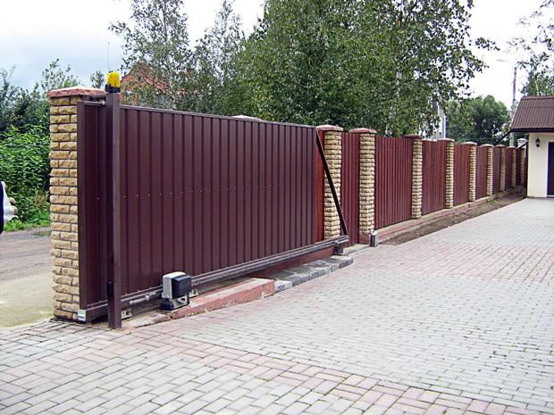 откатные ворота в Челябинске